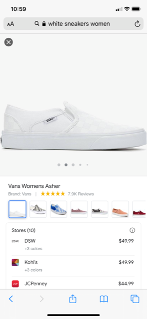 Google shopping organisch detail